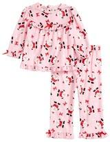 Little Me Infant Girl's Santa Graphic Top & Pants Set