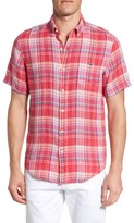 Vineyard Vines Men's Beach Rose Tucker Slim Fit Linen Sport Shirt