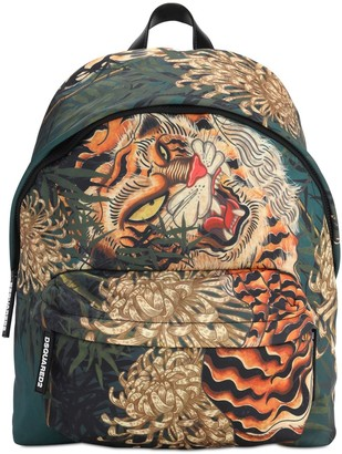 DSQUARED2 Tiger Print Tech Backpack