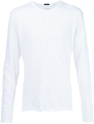 ATM Anthony Thomas Melillo Slub Jersey Destroyed Wash Henley