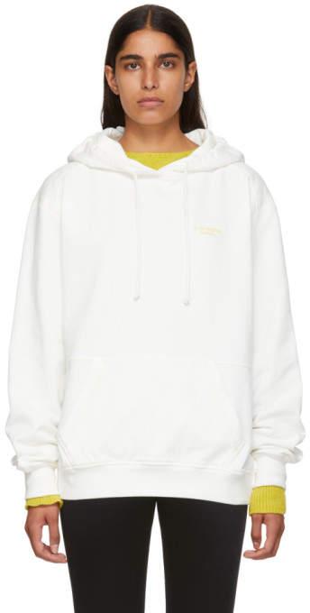 Acne Studios White Logo Hoodie