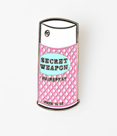 Vixen by Micheline Pitt White & Pink Secret Weapon Hairspray Lapel Pin