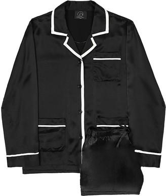 Coco Style Elegant Short Pajamas 2 Pieces Set - Black