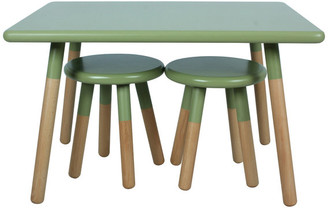 Ace Bayou Kids Dipped Table and Stool Set, Olive