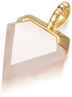Missoma Rose Quartz Gold Mini Shield Pendant