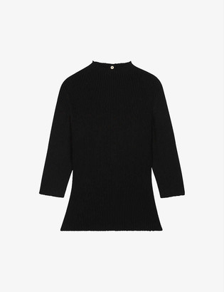 Maje Manu ribbed knitted jumper