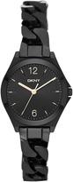 DKNY Parsons Black IP Chain Watch