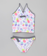 Jantzen White & Black Chevron Pineapple Tankini - Toddler & Girls
