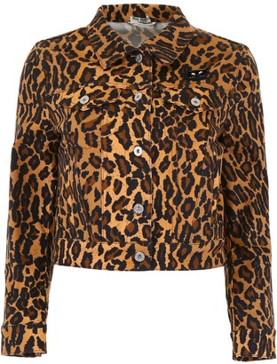 Miu Miu Leopard Print Jacket
