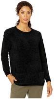 Karen Kane Chenille Double Pocket Sweater (Black) Women's Sweater