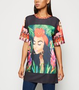 New Look Cameo Rose Short Sleeve T-Shirt Dress