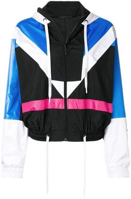 Versace panelled lightweight hooded jacket