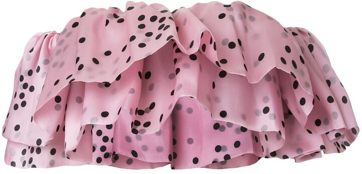 Thumbnail for your product : Bambah Ruffled Silk Organza Top