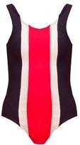 Cynthia Rowley Contrast Stripe Swimsuit
