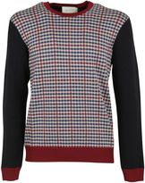 Gucci Dark Blue Micro Checked Crewneck