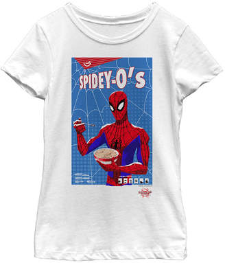 Fifth Sun Marvel Big Girls Spider-Man Spiderverse Spidey-o Box Short Sleeve T-Shirt