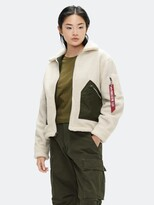 Thumbnail for your product : Alpha Industries Cropped Sherpa Utility Jacket W
