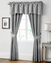 "Waterford Closeout! Carlisle Platinum 21"" x 55"" Scalloped Window Valance Bedding"