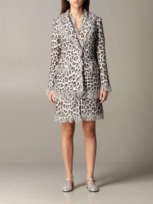 Blumarine Jacket In Lurex Animalier Mat