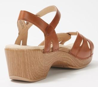 Dansko Leather Adjustable Sandals - Season