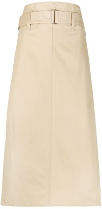 Sofie D'hoore belted A-line skirt
