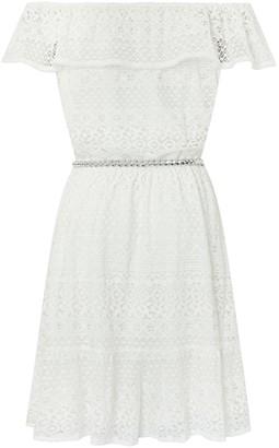 Monsoon Girls Storm Leah Lace Dress - Ivory