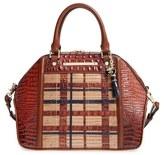 Brahmin 'Hudson' Embossed Leather Satchel - Brown