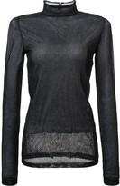 Loewe sheer mesh mock-neck top