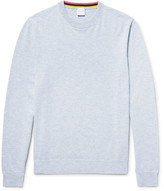Paul Smith Mélange Cashmere, Cotton And Wool-blend Sweater - Sky blue