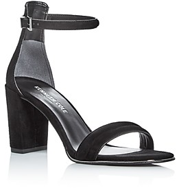 Kenneth Cole Lex Suede Ankle Strap Block Heel Sandals