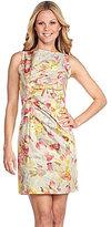 AK Anne Klein Sleeveless Floral-Print Dress