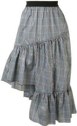 Portspure Checked Ruffled Skirt