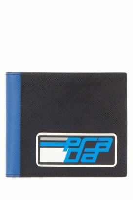 Prada Embellished Logo Bifold Wallet