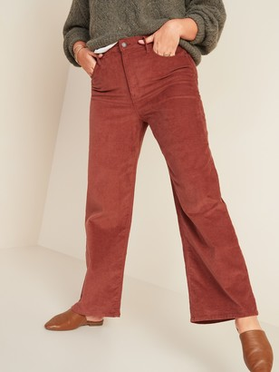 Old Navy Extra High-Waisted Wide-Leg Corduroy Crop Pants for Women