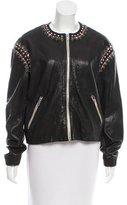 Etoile Isabel Marant Lightweight Embellished Leather Jacket w/ Tags