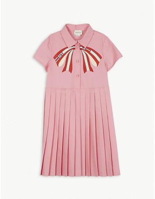 Gucci Bow pleated shirtdress 4-12 years