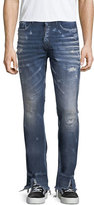 PRPS Split-Hem Distressed Slim-Straight Jeans