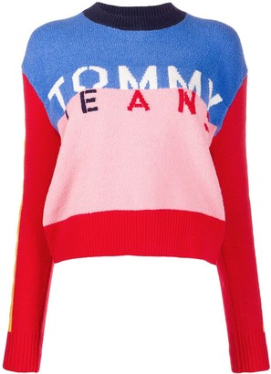 Tommy Jeans colour-block logo jumper