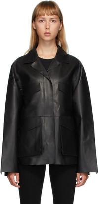 Totême Black Leather Avignon Jacket