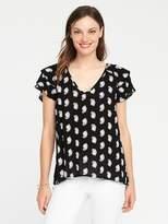 Old Navy Ruffle-Sleeve Crinkle-Gauze Top for Women