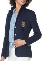 Chaps Petite Three-Button Ponte Blazer