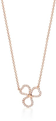 Tiffany & Co. Paper Flowers diamond open flower pendant in 18k rose gold