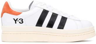 Y-3 Logo Printed Lace-Up Sneakers