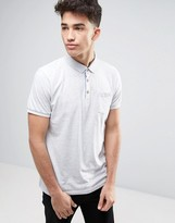 Brave Soul Plain Jersey ContRast Inside Placket Polo
