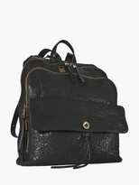 John Varvatos Richards Black Leather Backpack