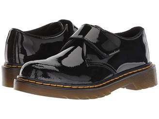 Dr. Martens Kid's Collection Kamron (Little Kid/Big Kid) (Black Patent Lamper) Kid's Shoes