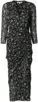 Veronica Beard lateral slit gathered dress - women - Silk - 8