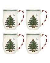 Spode Xmas Tree Mug with Peppermint Handle