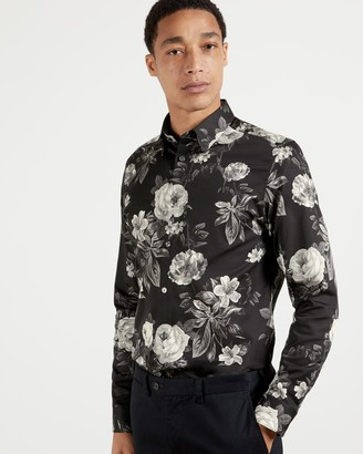 Ted Baker Long Sleeved Cotton Floral Shirt