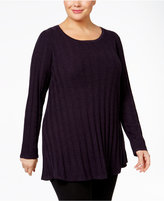 Style&Co. Style & Co. Plus Size Rib-Knit Tunic Sweater, Only at Macy's